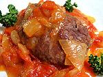 イベリコ豚頬肉トマトソース煮込み料理レシピ