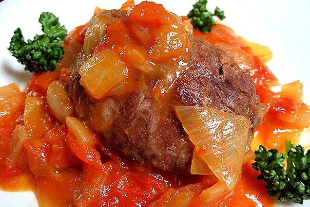 イベリコ豚頬肉トマトソース煮込み 料理レシピ