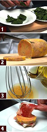 フォアグラとハモン・イベリコのトースト 料理レシピ