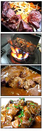 イベリコ豚頬肉赤ワインデミグラスソース仕立て 料理レシピ