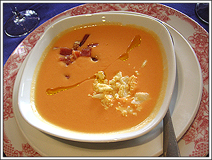 サルモレッホ(酸味の利いた冷製スープ)