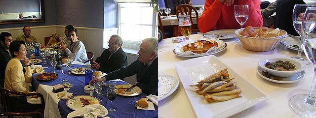 スペインでのレストラン昼食